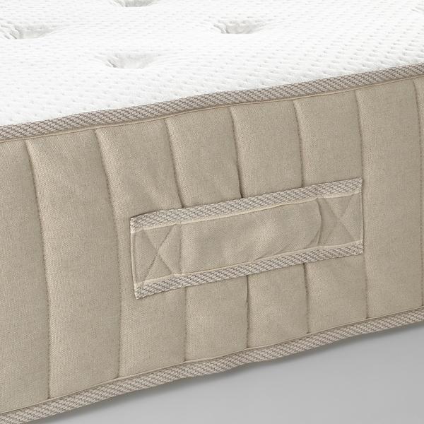 VATNESTRÖM Madrac s džepičastim oprugama, tvrdi/prirodna boja, 140x200 cm