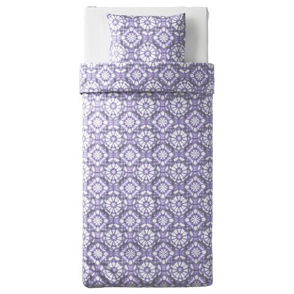 VATTENFRÄNE navlaka i jastučnica bijela/ljubičasta 152 inc² 1 kom 200 cm 150 cm 50 cm 60 cm