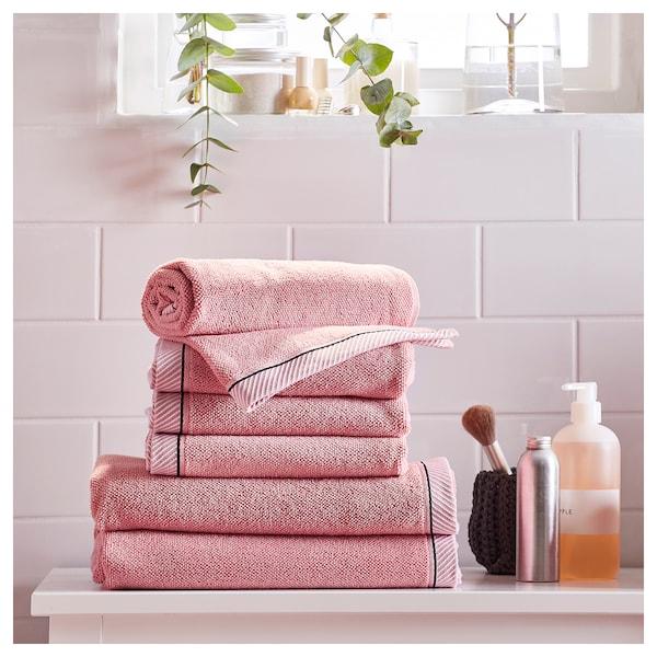 VIKFJÄRD ručnik za goste roza 50 cm 30 cm 0.15 m² 475 g/m²