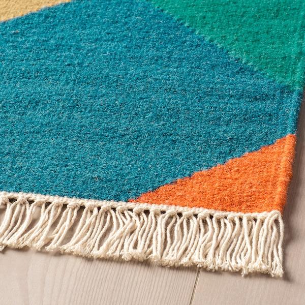 VINDERÖD tepih, ravno tkanje ručno izrađeno višebojno 195 cm 133 cm 4 mm 2.59 m² 1400 g/m²