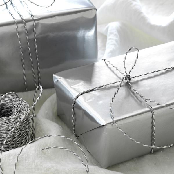 VINTER 2020 Ukrasni papir, rola, srebrna, 3x0.7 m