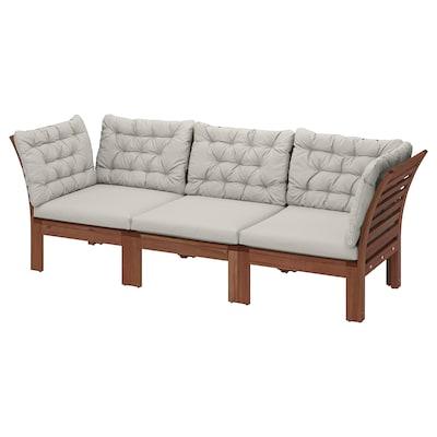 ÄPPLARÖ 3 üléses elemes kanapé, kültéri