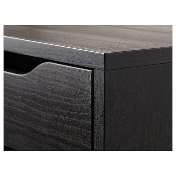 ALEX Fiókos elem, fekete-barna, 36x70 cm