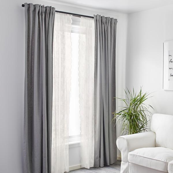 ALVINE SPETS függöny, 1 pár törtfehér 300 cm 145 cm 0.60 kg 4.35 m² 2 darabos