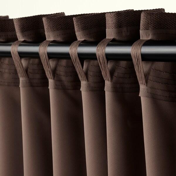 ANNAKAJSA Sötétítőfüggöny, 1 pár, barna, 145x300 cm