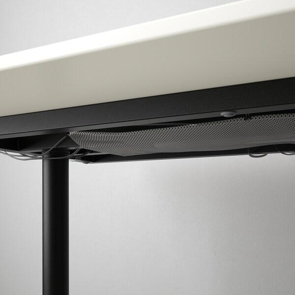 BEKANT Íróasztal, fehér/fekete, 120x80 cm
