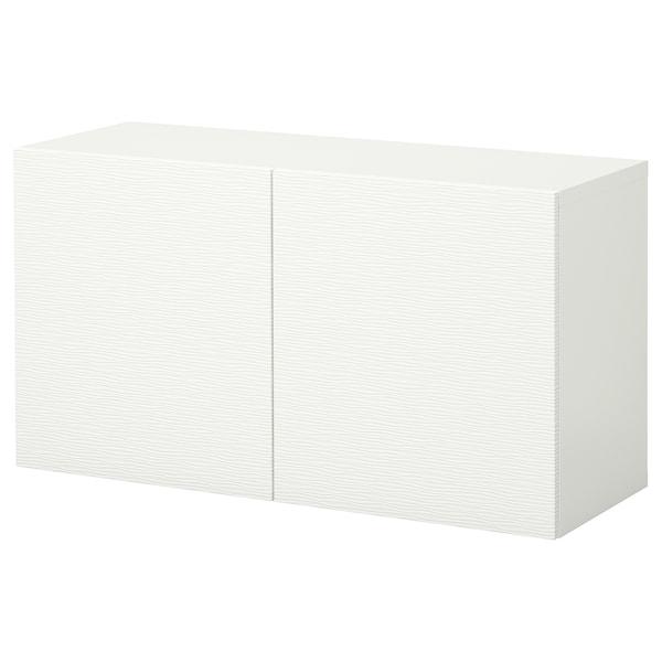 BESTÅ Falra szerelhető szekrénykombináció, fehér/Laxviken, 120x42x64 cm