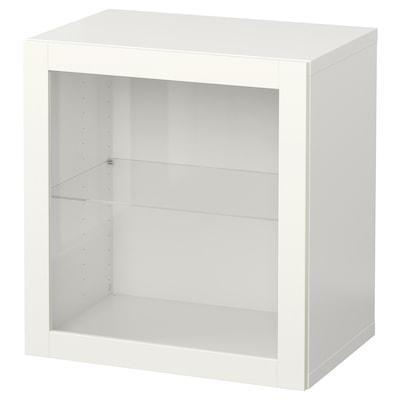 BESTÅ Falra szerelhető szekrénykombináció, fehér/Sindvik fehér, 60x42x64 cm
