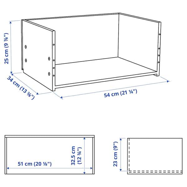 BESTÅ Fiókkeret, fekete-barna, 60x25x40 cm