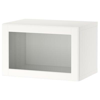 BESTÅ Polcos elem+ajtó, fehér/Ostvik fehér, 60x42x38 cm