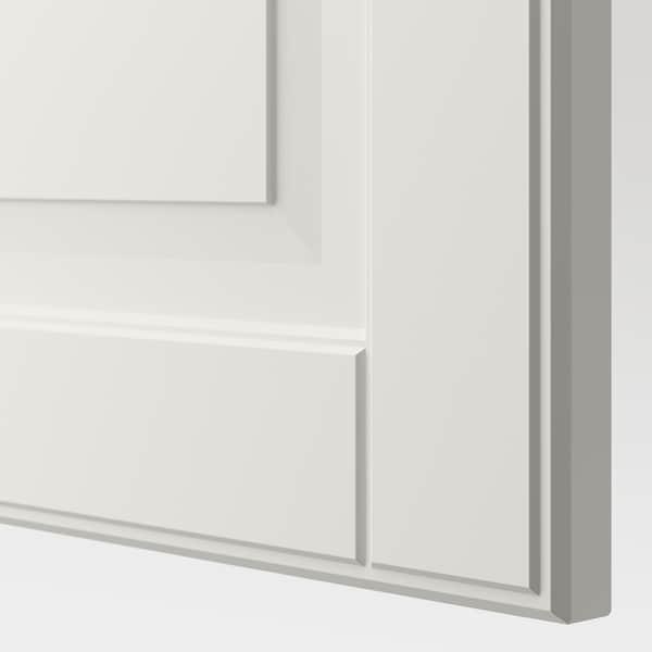 BESTÅ Polcos elem+ajtók, fehér/Smeviken fehér, 120x42x64 cm