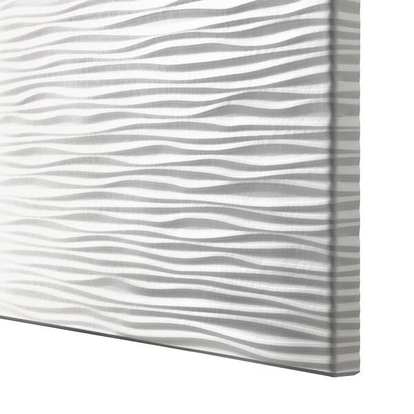BESTÅ Tár kmb+ajtk, fehér Laxviken/Glassvik fehér üveg, 180x42x112 cm