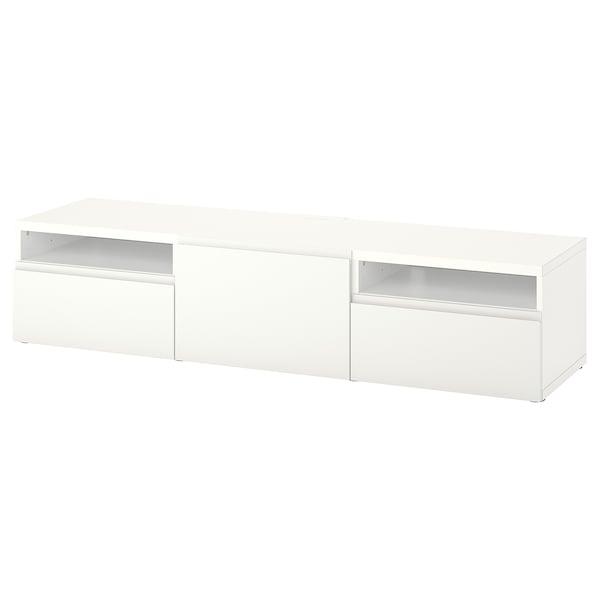 BESTÅ TV szekrény fiókokkal és ajtóval, fehér/Västerviken fehér, 180x42x39 cm