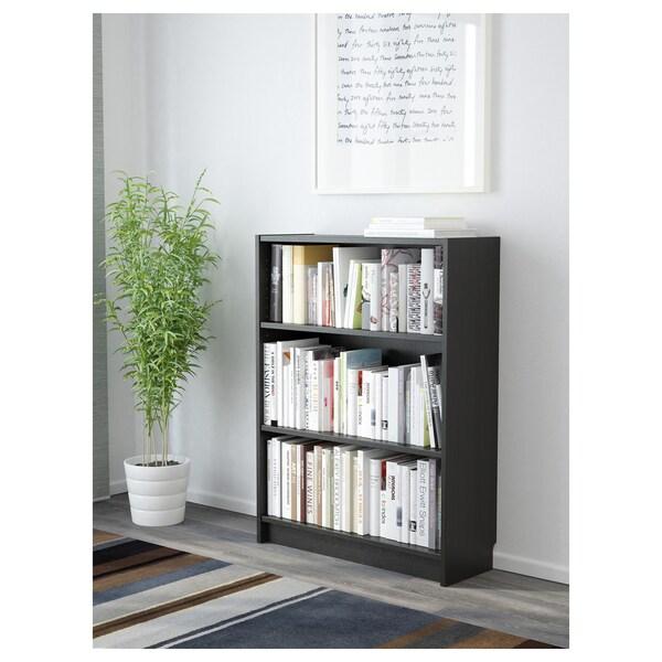 BILLY Könyvespolc, fekete-barna, 80x28x106 cm