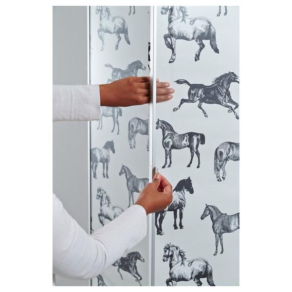 BILLY / MORLIDEN Könyvespolc, fehérre pácolt tölgy furnér, 80x30x202 cm