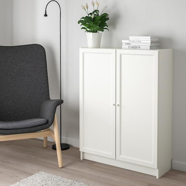 BILLY / OXBERG Könyvespolc+ajtó, fehér, 80x30x106 cm