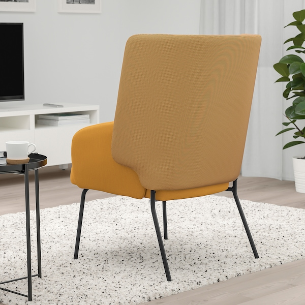 BINGSTA Fotel, Vissle sötétsárga/Kabusa sötétsárga