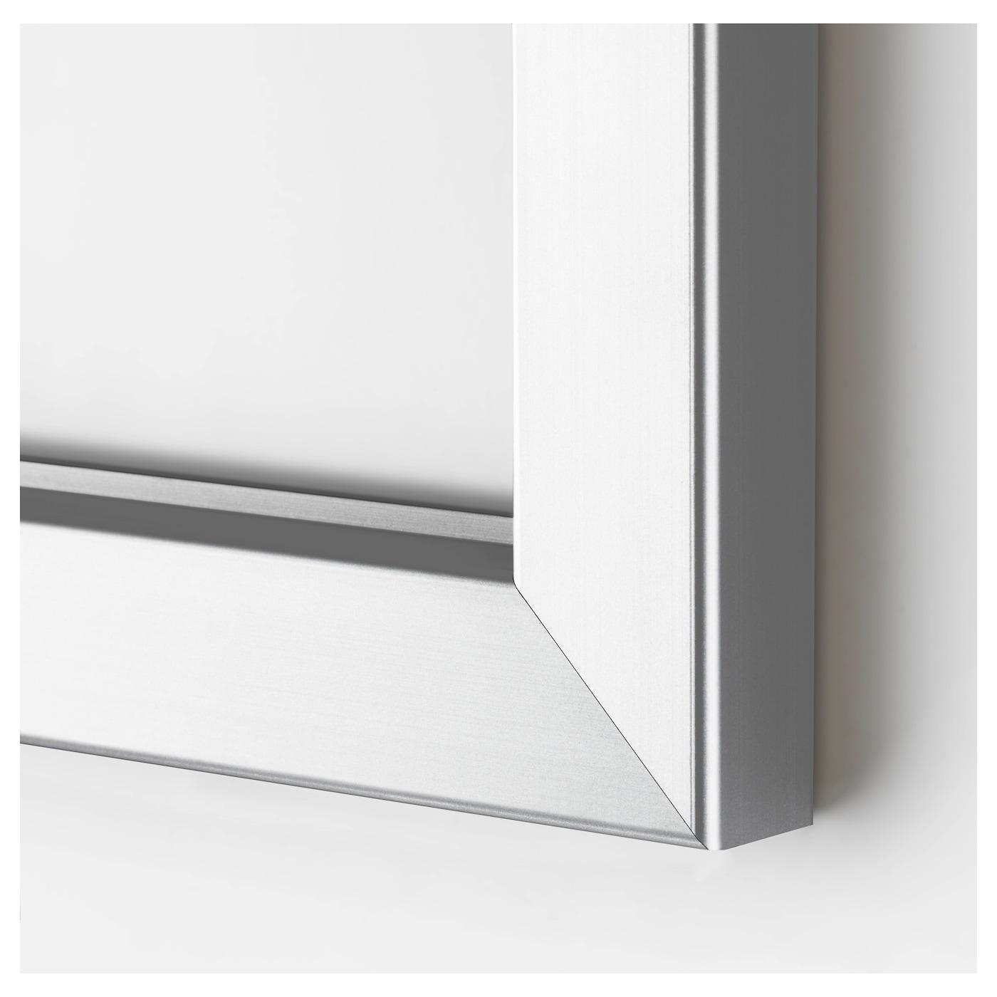 BJÖRKSTA Képkeret, alumínium színű, 78x118 cm