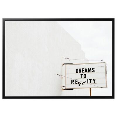 BJÖRKSTA kép kerettel álom/fekete 140 cm 100 cm