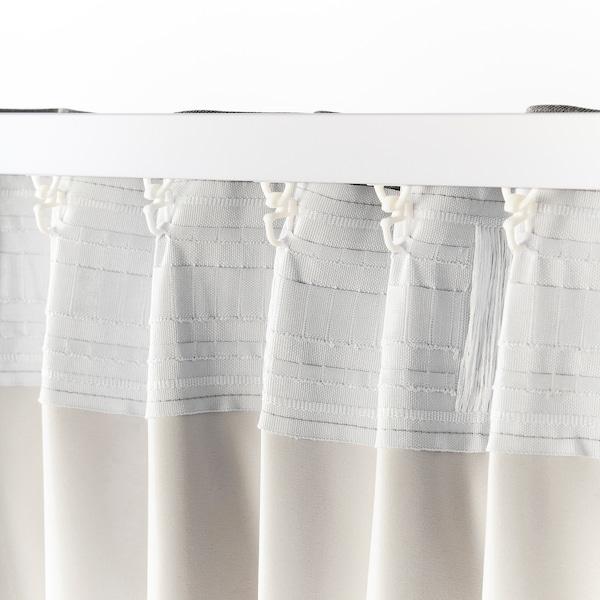 BLÅHUVA Sötétítőfüggöny, 1 pár, világosszürke, 145x300 cm