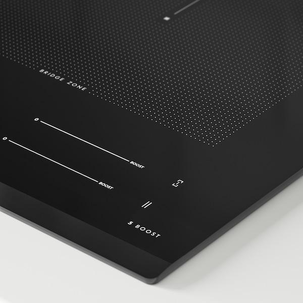 BLIXTSNABB Indukciós főzőlap, IKEA 700 fekete, 78 cm