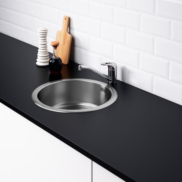 BOHOLMEN Egymedencés beépíthető mosogató, rozsdamentes, 45x15 cm