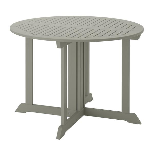 BONDHOLMEN Asztal, kültéri, szürke, 108 cm