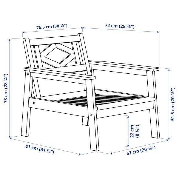 BONDHOLMEN Fotel, kültéri, szürke