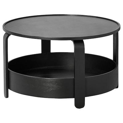 BORGEBY Dohányzóasztal, fekete, 70 cm