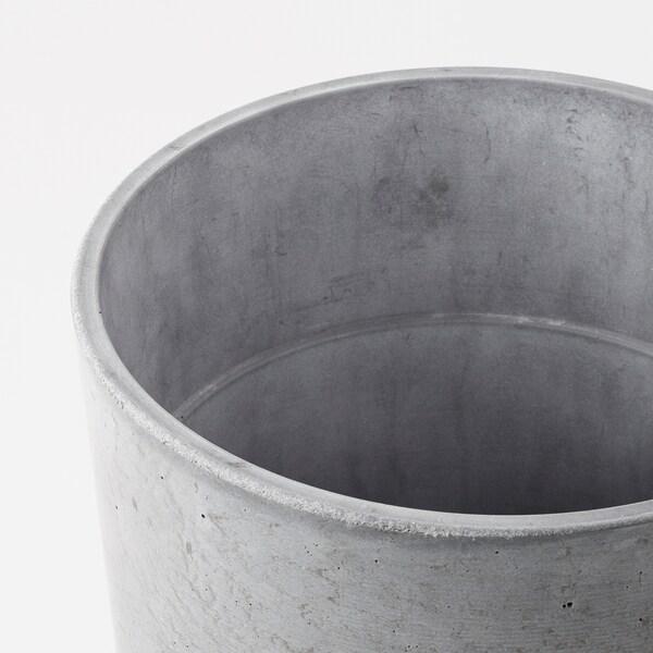 BOYSENBÄR Kaspó, bel/kültér világosszürke, 19 cm