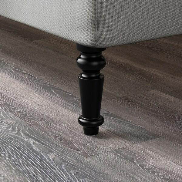 BRATTVÅG Láb, fekete, 20 cm