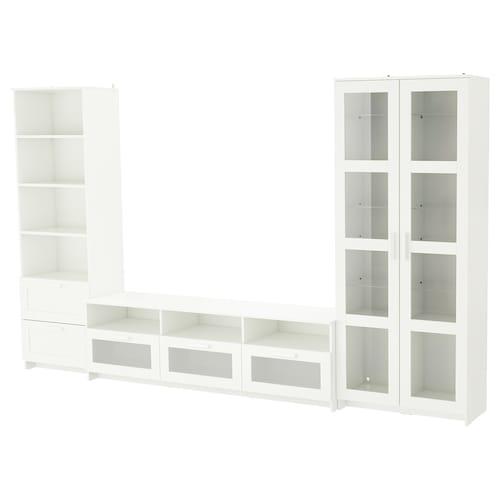 IKEA BRIMNES Tv tár komb/üvajt