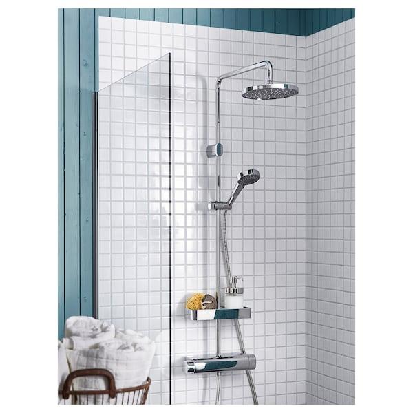 BROGRUND Zuhanyrendsz+termosztátos csaptelep, krómozott