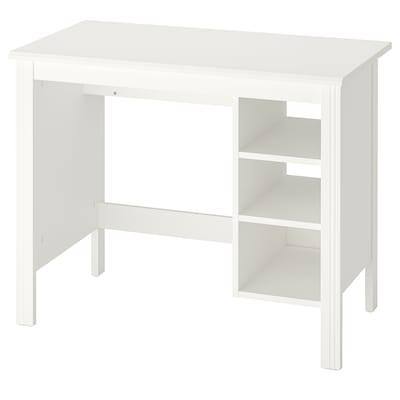 BRUSALI Íróasztal, fehér, 90x52 cm