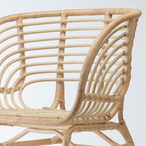 BUSKBO Fotel, rattan, Djupvik fehér IKEA