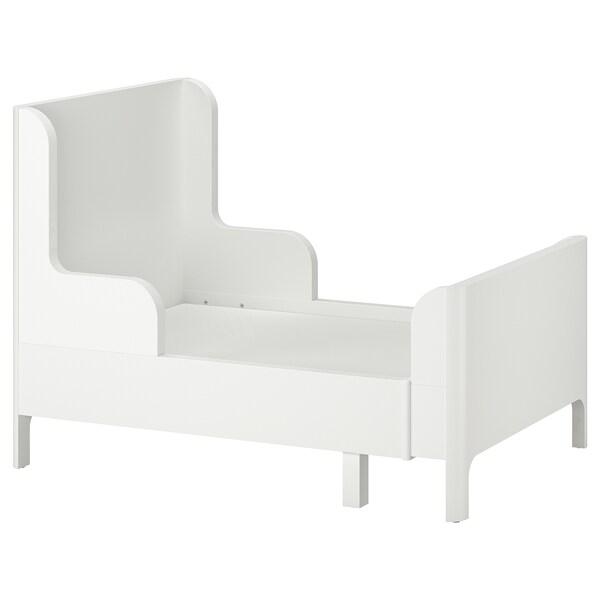 BUSUNGE Meghosszabbítható ágy, fehér, 80x200 cm