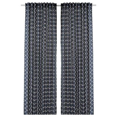 CITRUSTRÄD Függönypár, kék/feh, 145x300 cm