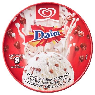 DAIM vaníliás jégkrém Daim csokoládéval 390 gr