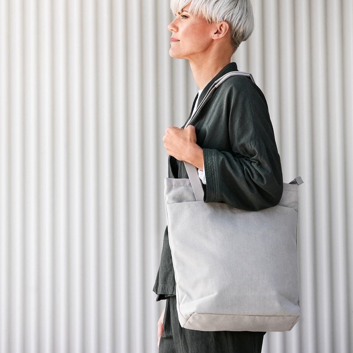 DRÖMSÄCK Bevásárlótáska, bézs, 14 l