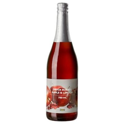 DRYCK BUBBEL ÄPPLE & LINGON Szénsavas alma és vörös áfonya ital