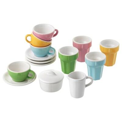 DUKTIG 10 db-os kávé-/teakészlet többszínű