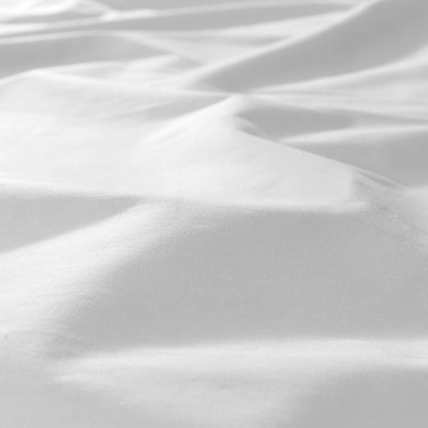 DVALA Gumis lepedő, fehér, 140x200 cm