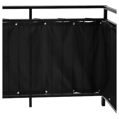 DYNING Belátásgátló paraván erkélyre, fekete, 250x80 cm
