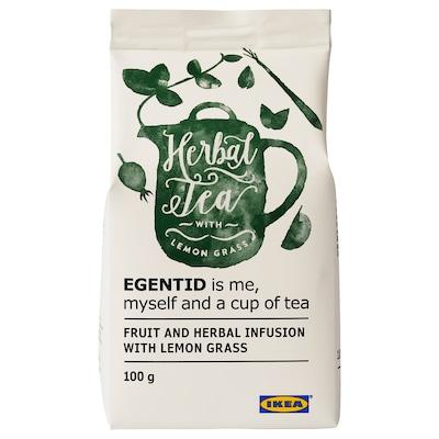 EGENTID Gyümölcs és gyógynövény tea, citromfű/UTZ minősített, 100 gr