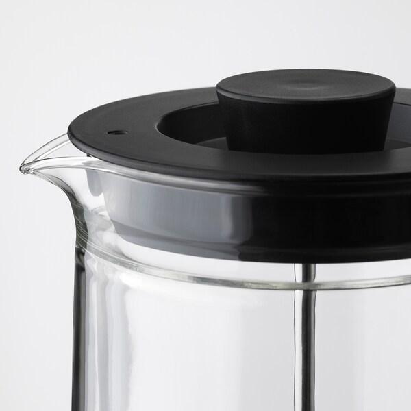 EGENTLIG kávé/tea készítő duplafalú/átlátszó üveg 21 cm 0.9 l