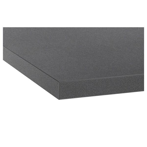 EKBACKEN munkalap fekete kő hat./laminált 246 cm 63.5 cm 2.8 cm