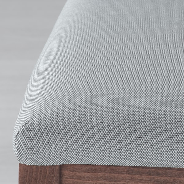 EKEDALEN Bárszék+háttámla, barna/Orrsta világosszürke, 62 cm