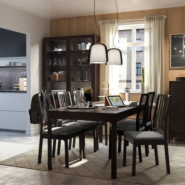 EKEDALEN meghosszabbítható asztal sötétbarna 180 cm 240 cm 90 cm 75 cm