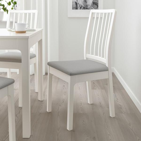 EKEDALEN Szék, fehér/Orrsta világosszürke