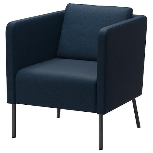EKERÖ fotel Skiftebo sötétkék 70 cm 73 cm 75 cm 57 cm 46 cm 43 cm